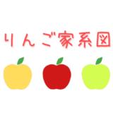 【りんごの家系図】りんごの品種の交配親の組み合わせをまとめました。