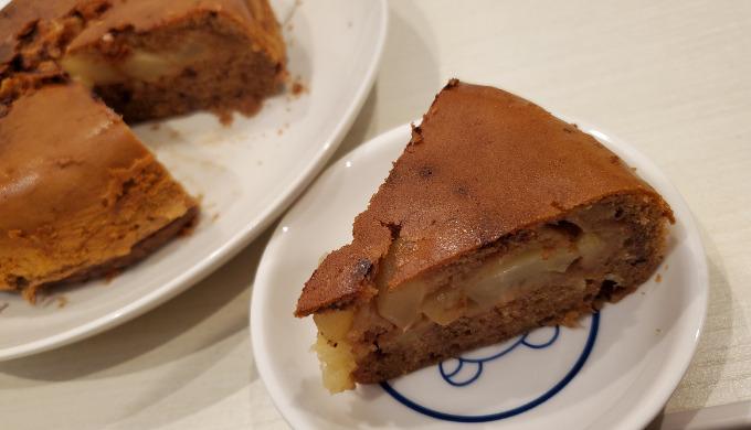 りんごのチョコケーキ完成