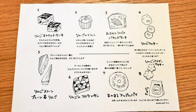 焼き菓子BOXのラインナップ